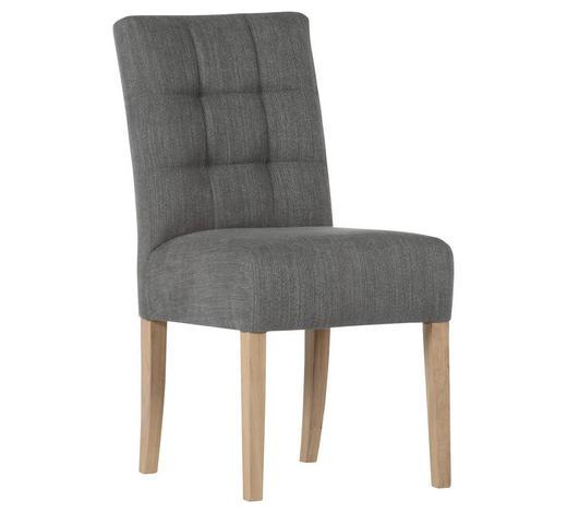 STUHL in Textil Grau - Naturfarben/Grau, KONVENTIONELL, Holz/Textil (47/94/69cm) - Cantus