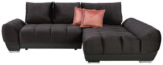 WOHNLANDSCHAFT in Textil Braun, Grau - Pink/Braun, MODERN, Textil/Metall (290/192/cm) - Carryhome