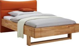 BETT 120/200 cm  in Orange, Buchefarben   - Buchefarben/Orange, Natur, Holz/Textil (120/200cm) - Linea Natura