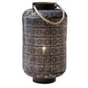 Bodenleuchte - Goldfarben/Schwarz, LIFESTYLE, Textil/Metall (39/58/39cm) - Kare-Design