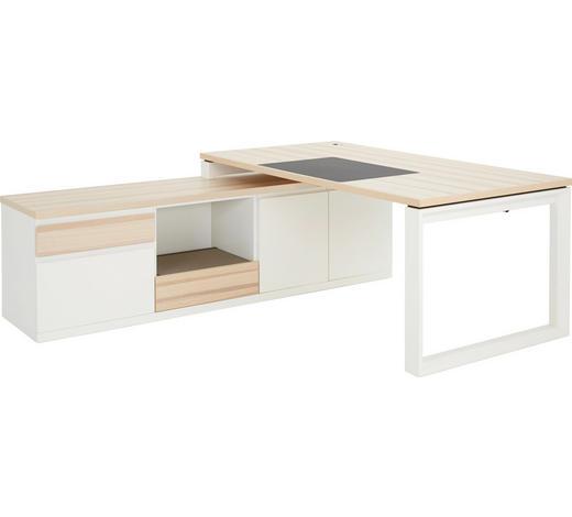 SCHREIBTISCHKOMBINATION - Eschefarben/Weiß, Design, Holz/Holzwerkstoff (1/1/1cm) - Invivus