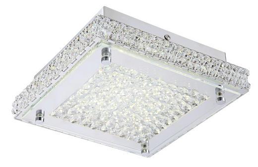 LED-DECKENLEUCHTE - Chromfarben, LIFESTYLE, Glas/Metall (22/22/7,2cm)