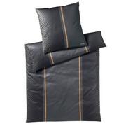 BETTWÄSCHE Makosatin Anthrazit, Schwarz 155/220 cm - Anthrazit/Schwarz, Design, Textil (155/220cm) - Joop!