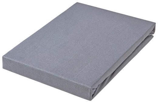 SPANNBETTTUCH Jersey Titanfarben bügelfrei, für Wasserbetten geeignet - Titanfarben, Basics, Textil (150/200cm) - Esposa