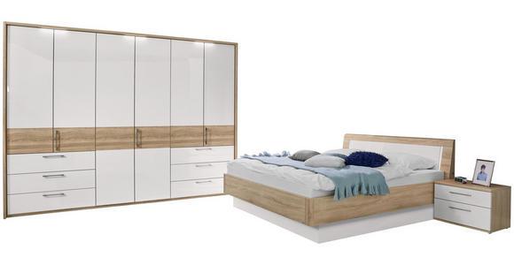 SCHLAFZIMMER in Eichefarben, Weiß - Eichefarben/Weiß, Design, Holzwerkstoff (180/200cm) - Venda