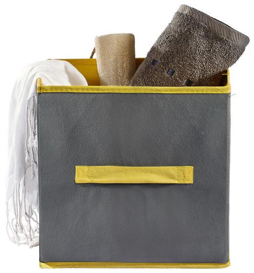BOX Textil Grau - Grau, Textil (26/26/26cm)