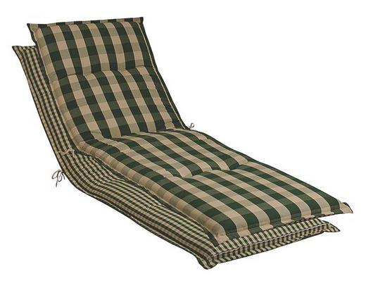 LIEGENAUFLAGE Karo - Dunkelgrün/Beige, LIFESTYLE, Textil (63/10/190cm)