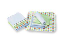WASCHTUCH 10-teilig - Multicolor, Basics, Textil (22/22cm) - MY BABY LOU