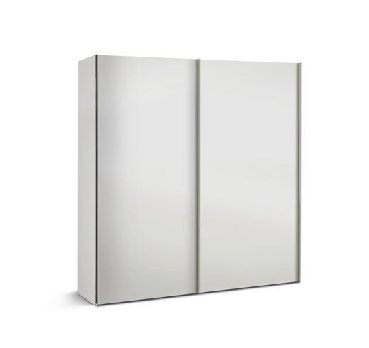 SCHRANK Weiß - Alufarben/Weiß, Basics, Holzwerkstoff/Metall (200/216/48cm)