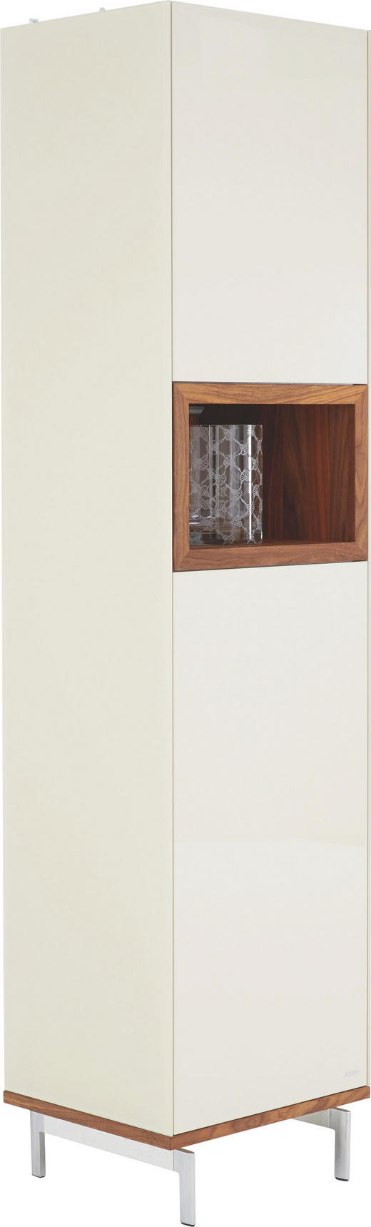 VITRINE Walnuss massiv Beige, Nussbaumfarben - Beige/Nussbaumfarben, Design, Glas/Holz (52/216/46cm) - Joop!
