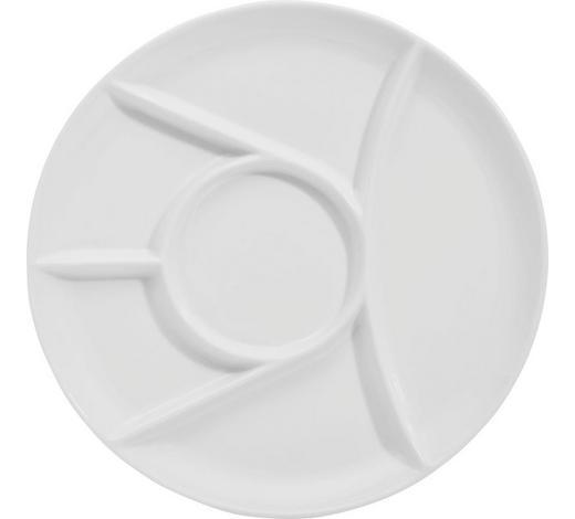 TALÍŘ NA FONDUE, porcelán - bílá, Basics, keramika (25cm) - Homeware Profession.
