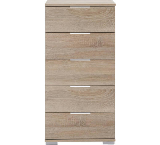 KOMMODE 49/102/41 cm  - Eichefarben/Alufarben, Design, Holzwerkstoff/Kunststoff (49/102/41cm) - Carryhome