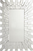 SPEGEL - silver, Design, glas/träbaserade material (80/120/2,3cm) - Xora