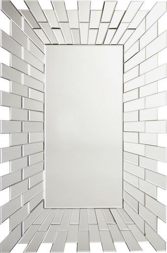 SPIEGEL - Silberfarben, Design, Glas/Holzwerkstoff (80/120/2,3cm) - Xora