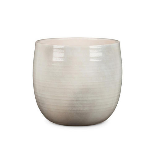 PFLANZENTOPF - Hellgrau, KONVENTIONELL, Keramik (15/15/14cm)