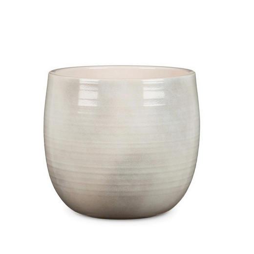 ÜBERTOPF - Hellgrau, KONVENTIONELL, Keramik (15/15/14cm)