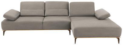 WOHNLANDSCHAFT in Grau Textil - Beige/Bronzefarben, Natur, Textil/Metall (298/178cm) - Valnatura