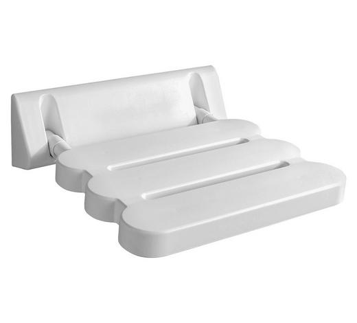 DUSCHHOCKER Metall, Kunststoff - Weiß, Basics, Kunststoff/Metall (31/23cm)