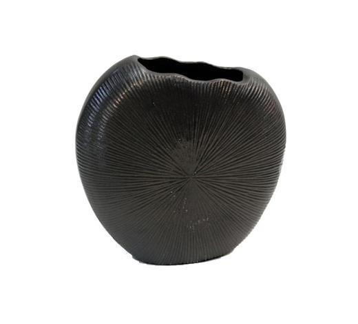 VASE 18 cm - Schwarz, Design, Metall (19/8/18cm) - Ambia Home