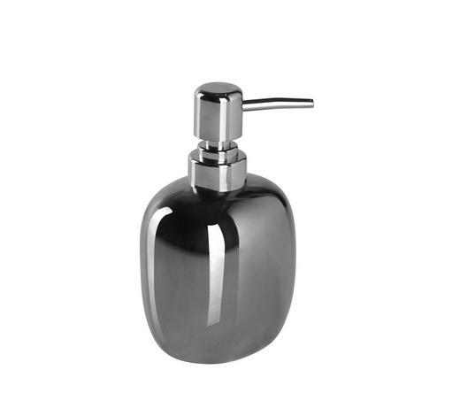 SEIFENSPENDER Keramik - Silberfarben, Design, Keramik (9,3/16,3/7,4cm) - Sadena