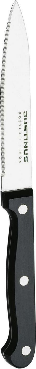 NŮŽ NA RAJČATA - černá/barvy stříbra, Basics, kov/umělá hmota (21cm) - Justinus