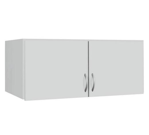 AUFSATZSCHRANK - Silberfarben/Weiß, Basics, Holzwerkstoff/Kunststoff (91/39/54cm) - Boxxx