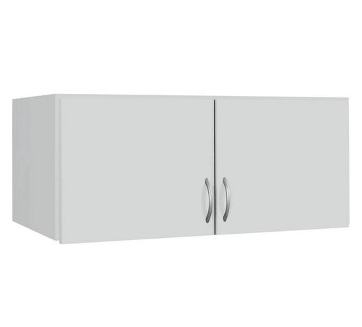AUFSATZSCHRANK 91/39/54 cm Weiß  - Silberfarben/Weiß, Basics, Kunststoff (91/39/54cm) - Carryhome