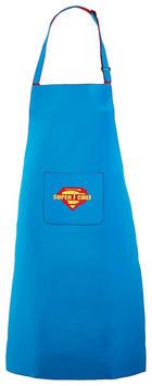 SCHÜRZE - Blau, Trend, Textil (65/93cm)