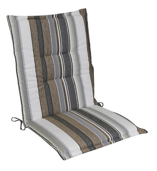 SESSELAUFLAGE Streifen - Braun/Naturfarben, Design, Textil (48/4/109cm)