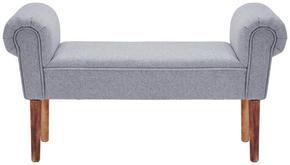 SITTBÄNK - grå/naturfärgad, Klassisk, träbaserade material/textil (98/30/55cm) - Ambia Home