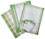 GESCHIRRTUCH-SET - Grün, KONVENTIONELL, Textil (50/70cm) - Boxxx