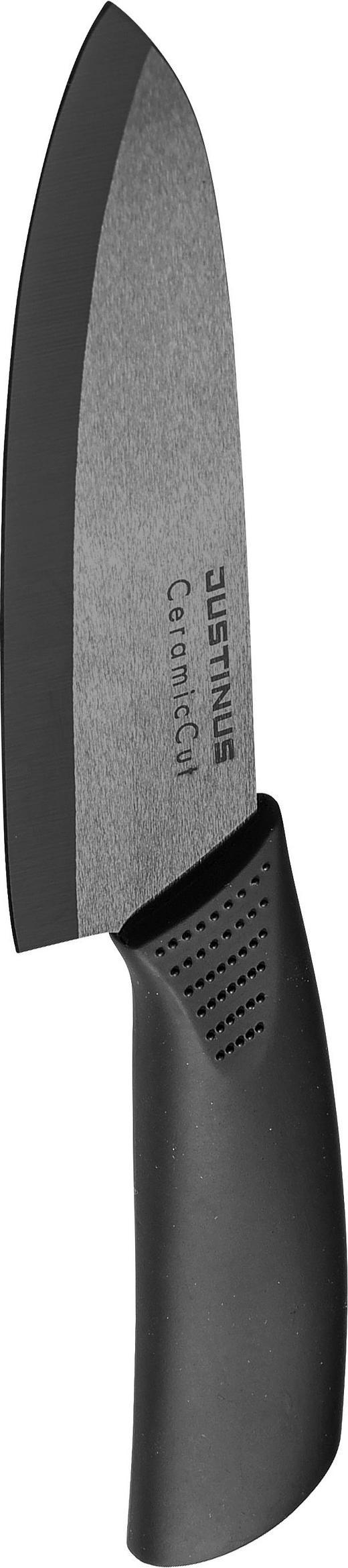 KUHINJSKI NOŽ 234940, 15 CM - črna, Konvencionalno, umetna masa/keramika (27cm) - Justinus