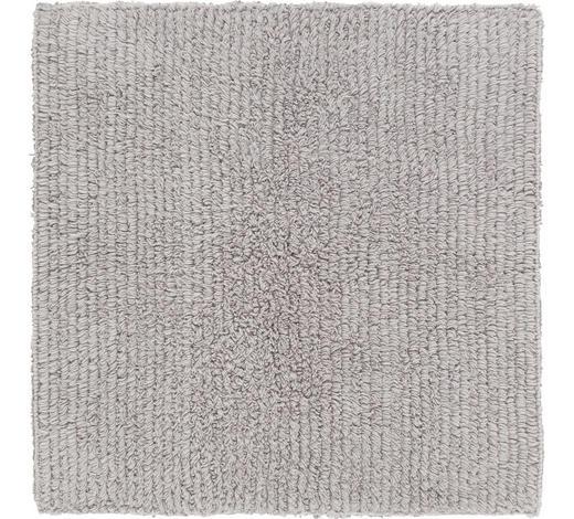 BADEMATTE in Silberfarben 60/60 cm - Silberfarben, Natur, Textil (60/60cm) - Linea Natura