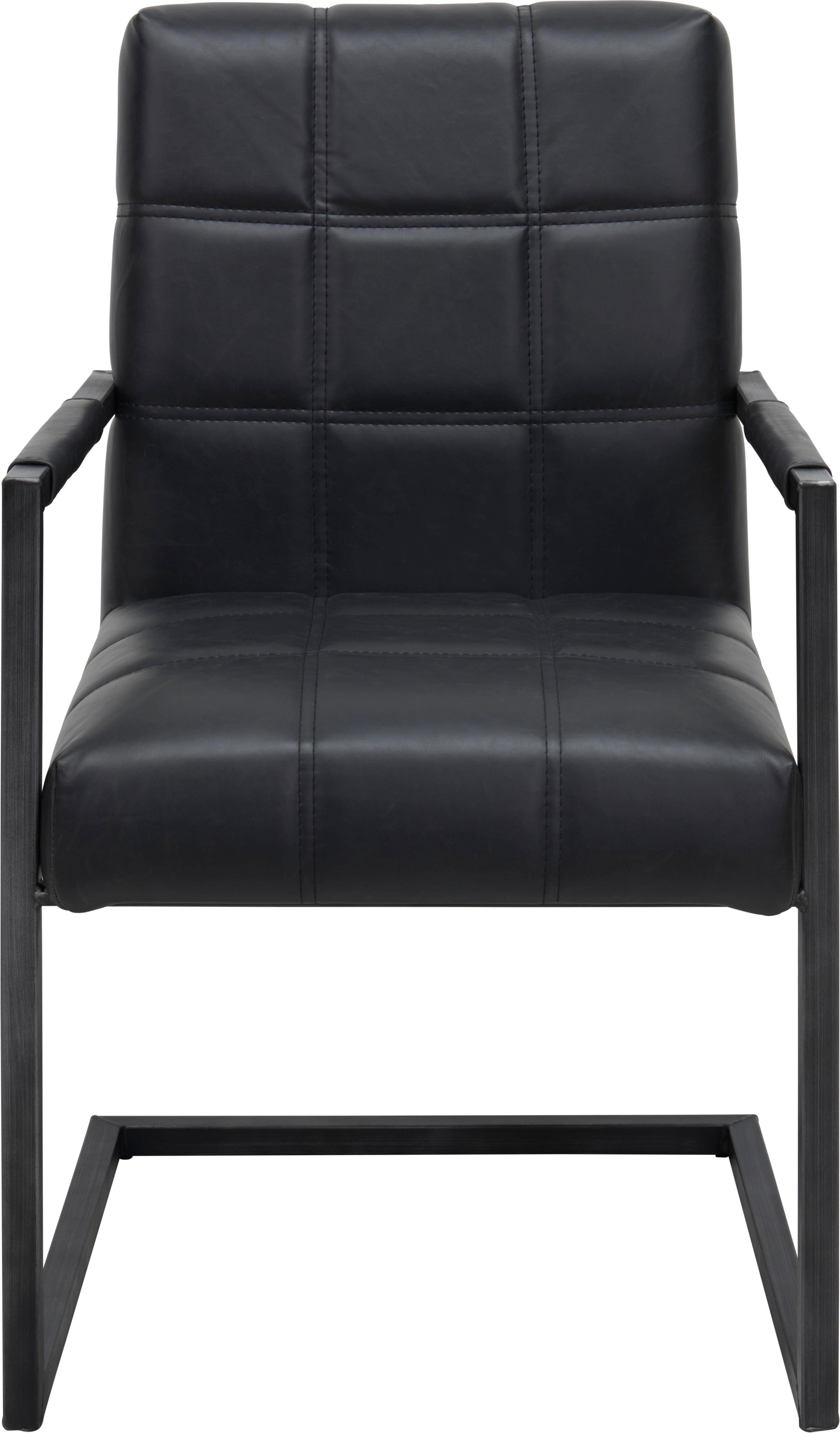 STOL - svart, Trend, metall/textil (55/92/63cm) - Ambia Home
