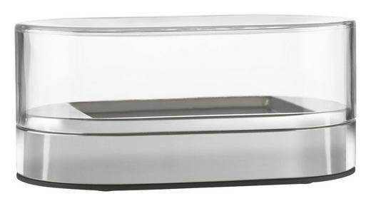 BUTTERDOSE Kunststoff, Metall - Klar/Silberfarben, Basics, Kunststoff/Metall (1,2cm) - Emsa