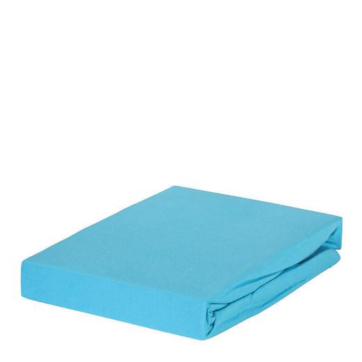 SPANNBETTTUCH Jersey Türkis bügelleicht, für Wasserbetten geeignet - Türkis, Basics, Textil (180/200cm) - Esposa