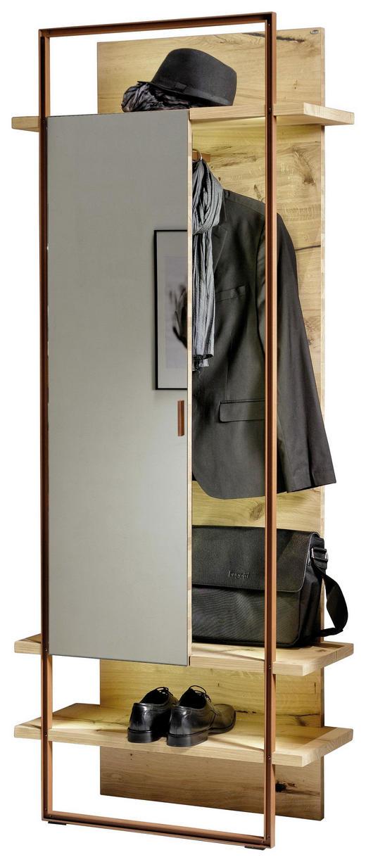 GARDEROBENPANEEL - Eichefarben/Bronzefarben, Design, Glas/Holz (80/197,1/33,3cm) - Voglauer