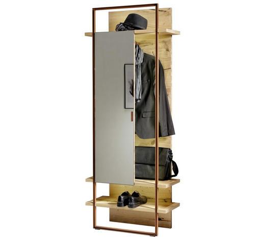 GARDEROBENPANEEL 80/197,1/33,3 cm - Eichefarben/Bronzefarben, Design, Glas/Holz (80/197,1/33,3cm) - Voglauer