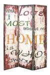 PARAVENT  in Holz  Multicolor - Multicolor, Basics, Holz (120/180/3cm) - Landscape