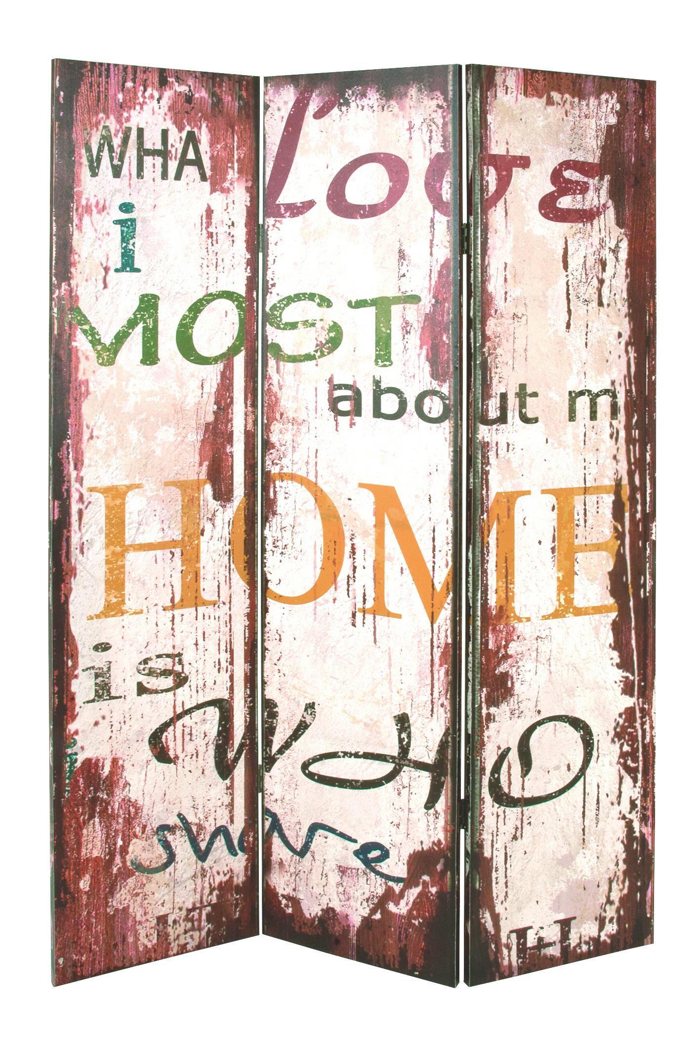 PARAVENT Holz Multicolor - Multicolor, Basics, Holz (120/180/3cm) - LANDSCAPE