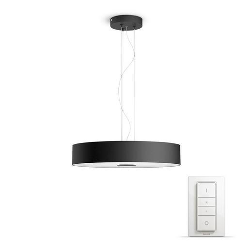 HÄNGELEUCH. HUE WHITE AMBIANCE - Schwarz, Design, Metall (44,4/160/44,4cm) - Philips
