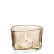 TEELICHTGLAS - Braun, Basics, Glas (9/6/7cm) - Leonardo