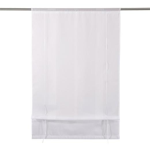 RAFFROLLO  transparent   80/130 cm - Weiß, Basics, Textil (80/130cm) - Novel