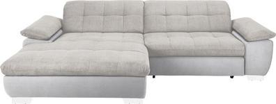 WOHNLANDSCHAFT in Textil Naturfarben, Weiß  - Chromfarben/Naturfarben, Design, Textil/Metall (180/265cm) - Carryhome