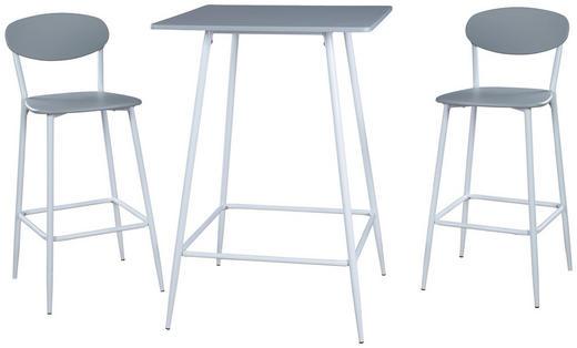 TISCHGRUPPE Grau, Weiß - Weiß/Grau, Design, Holz/Metall (70/70/102cm) - Carryhome