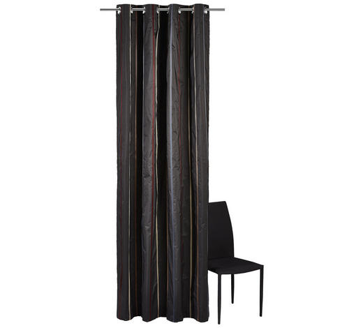 ÖSENSCHAL  halbtransparent   140/250 cm  - Anthrazit/Beige, Design, Textil (140/250cm) - Joop!