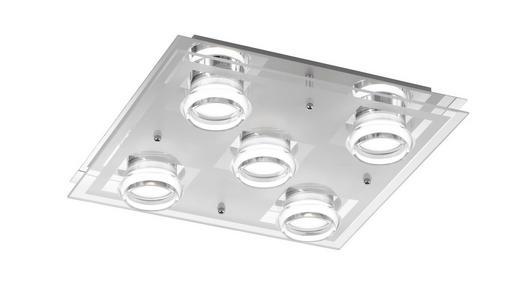 LED-DECKENLEUCHTE - Chromfarben, Design, Metall (35/35cm)