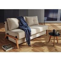 SCHLAFSOFA in Holz, Metall, Textil Sandfarben  - Sandfarben/Eichefarben, MODERN, Holz/Textil (147/67/96cm) - Innovation