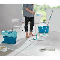 BODENWISCHER  - Weiß/Grün, Basics, Kunststoff/Textil - Leifheit