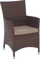 GARTENSESSEL - Hellbraun/Braun, Design, Kunststoff/Textil (61/91/64cm) - Ambia Garden